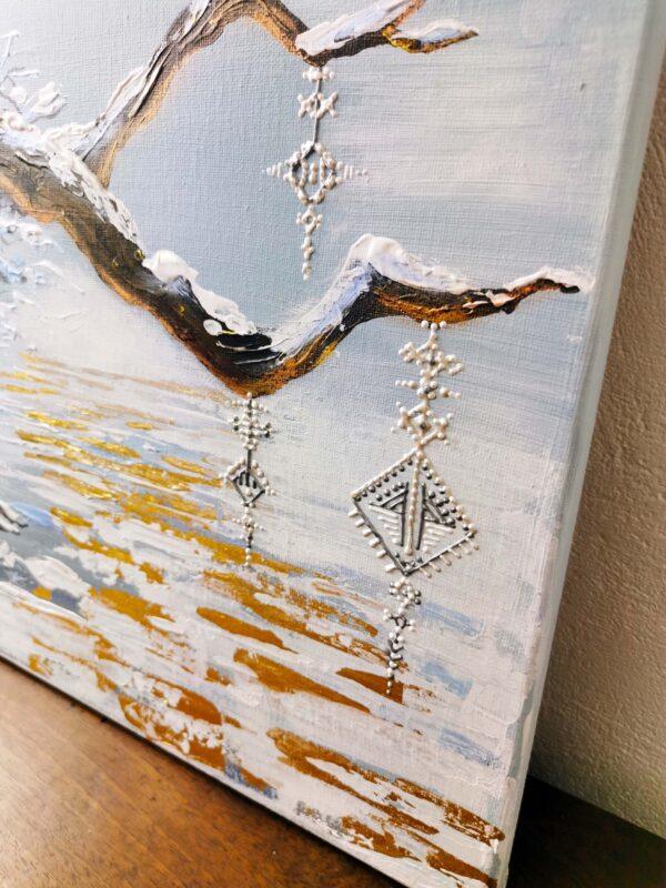 peinture acrylique neige berbère