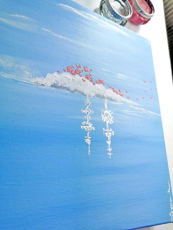 peinture acrylique sur châssis coton