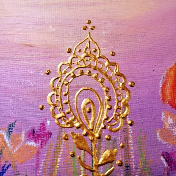 peinture florale acrylique
