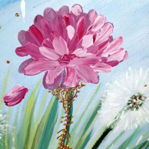 peinture acrylique florale