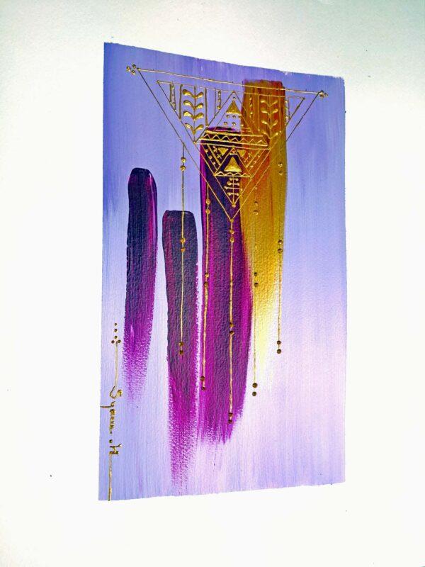 Peinture acrylique abstraite Berbère amazigh