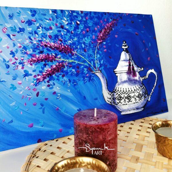 peinture acrylique maroc thé à la menthe